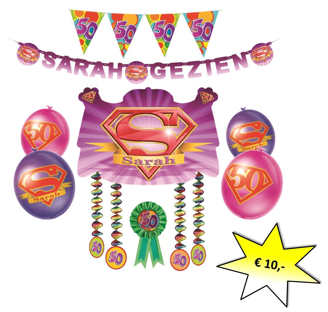 sarah 50 jaar pakket Sarah Feestpakket sarah 50 jaar pakket